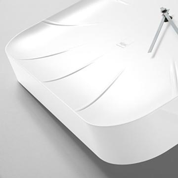 Sigel WU140 moderne, große Design-Wanduhr, Modell inu, weiß, 35x35 cm, reddot design award 2014 Gewinner - 3