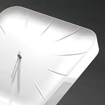 Sigel WU140 moderne, große Design-Wanduhr, Modell inu, weiß, 35x35 cm, reddot design award 2014 Gewinner - 4