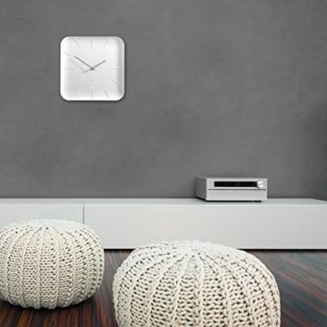 Sigel WU140 moderne, große Design-Wanduhr, Modell inu, weiß, 35x35 cm, reddot design award 2014 Gewinner - 5