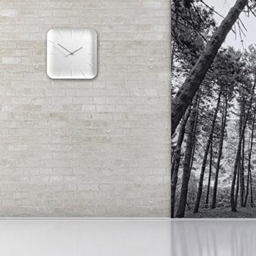 Sigel WU140 moderne, große Design-Wanduhr, Modell inu, weiß, 35x35 cm, reddot design award 2014 Gewinner - 6