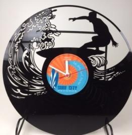 Surfer Vinyl Schallplatte Wanduhr - 1