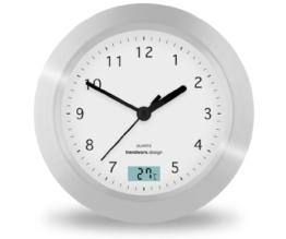 Trendworx 4044 Badezimmeruhr mit Saugnapf und digitalem Thermometer - 1