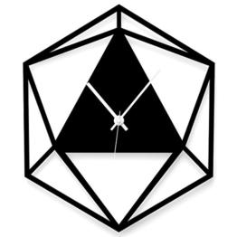WANDKINGS Wanduhr Triangle aus Acrylglas, in 11 Farben erhältlich (Farbe: Uhr = Schwarz matt; Zeiger = Weiß) - 1