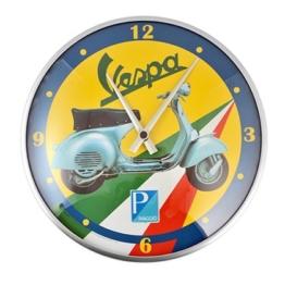 "Wanduhr FORME VESPA, Motiv ""Flagge mit Roller"", rund, Ø 320mm - 1"