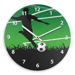Wanduhr mit Fußball-Motiv für Jungen | Kinderzimmer-Uhr | Kinder-Uhr - 1