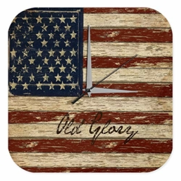 Wanduhr Welt Reise USA Flagge Nostalgie Wand Deko Uhr Vintage Retro - 1