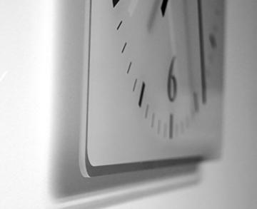 Anker - Lautlose Wanduhr mit Fotodruck auf Polycarbonat | geräuschlos kein Ticken Fotouhr Bilderuhr Motivuhr Küchenuhr modern hochwertig Quarz | 30 cm x 60 cm mit weißen Zeigern - GERÄUSCHLOS - 4