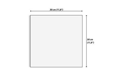 ARTTOR Wanduhr - Quadrat - Glasuhr - Breite: 30cm, Höhe: 30cm - Bildnummer 2695 - Schleichendes Uhrwerk - lautlos - zum Aufhängen bereit - Kunstdruck - C4AC30x30-2695 - 3