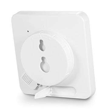 Decdeal Bad Wanduhr Dusche Uhr Wasserdicht mit LCD Display Luftfeuchtigkeit Temperatur, Countdown-Timer, Berühren Tastensteuerung Wandbehang Freistehend - 6