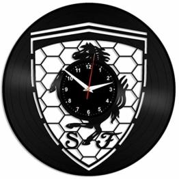 EVEVO Ferrari Wanduhr Vinyl Schallplatte Retro-Uhr groß Uhren Style Raum Home Dekorationen Tolles Geschenk Wanduhr Ferrari - 1