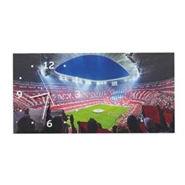 FC Bayern München Modische Wanduhr, Uhr, Wall Clock Allianz Arena FCB - Plus Gratis Aufkleber Forever München - 1