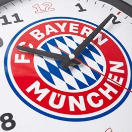 FC Bayern München Stylische Wanduhr / Uhr / Wall Clock mit Quarzuhrwerk Ø 35 cm FCB - plus gratis Aufkleber forever München - 1