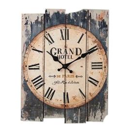 FOKOM Holz Lautlos Vintage Wanduhr Uhr Wall Clock ohne Tickgeräusche-30 x 40cm - 1
