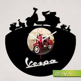 Gravinci.de Schallplatten-Wanduhr Vespa - 1