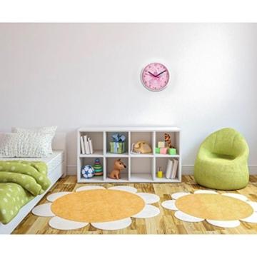 """Hama Kinder Wanduhr ohne Ticken """"Krone"""" (analoge Uhr, großes Ziffernblatt mit Ø 22,5 cm, geräuscharm, mit Prinzessinnen-Motiv, z.B. für's Kinderzimmer) Kinderwanduhr rosa - 3"""