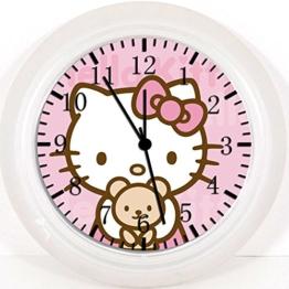 Hello Kitty Teddy Bear Wanduhr 25,4cm Will Be Nice Gift und Raum Wand Decor Z49 - 1