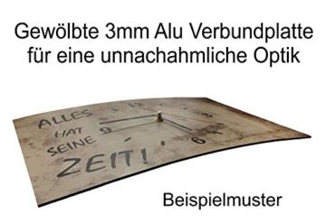 LAUTLOSE Designer Wanduhr Pferd Mädchen Pferde braun modern Dekoschild Abstrakt Bild 38 x 25cm - 2
