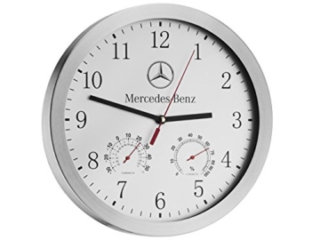 Mercedes-Benz, Wanduhr silber, Glas / Aluminium - 1