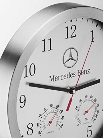Mercedes-Benz, Wanduhr silber, Glas / Aluminium - 2