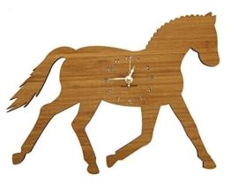 Mr. & Mrs. Panda Wanduhr Dressurpferd - Pferd, Reiterferien, Pony, Dressurpferd, voltigieren, Bauernhof Wanduhr, Uhr, Kinderuhr, Kinderzimmer, Wanddeko, Deko, Geschenk, Clock, modern, Schenken, Zeit, Einrichten, Uhrwerk, Wohnzimmer, Holz - 1