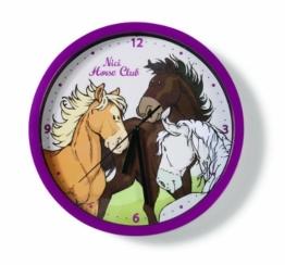 Nici 33150 - Wanduhr Pferde 25 cm - 1