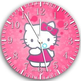 Pink Hello Kitty Wanduhr 25,4 cm Will Be Nice Gift und Raum Wand Decor X20 - 1