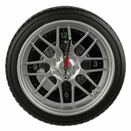 Preis am Stiel Wanduhr ''Reifen'' mit 16 LED | Felgen Uhr | mit Beleuchtung | Wanduhr modern | Groß | Geschenk für Männer | Wand Deko | Wohnzimmer - 1