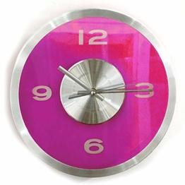 Preis am Stiel Wanduhr Transparent - Pink | Wanddekortion | Wohnzimmer - 1