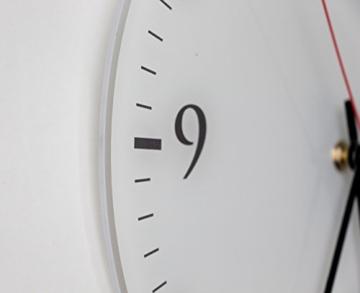 Printalio Anker - Lautlose Wanduhr mit Fotodruck auf Polycarbonat | geräuschlos Kein Ticken Fotouhr Bilderuhr Motivuhr Küchenuhr Modern Hochwertig Quarz | 30 cm Rund mit weißen Zeigern - GERÄUSCHLOS - 4