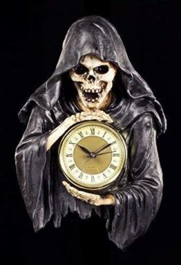 Reaper Wanduhr - Die dunkelste Stunde | Sensenmann Deko Figur Skelett Totenkopf Uhr Gothic - 1