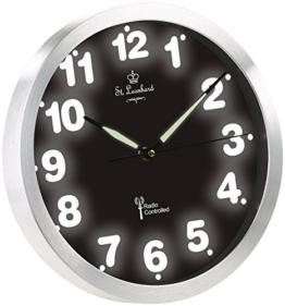 St. Leonhard Beleuchtete Uhr: Funk-Wanduhr mit weißer LED-Zifferbeleuchtung und Quarz-Uhrwerk (Wanduhr mit LED Beleuchtung) - 1