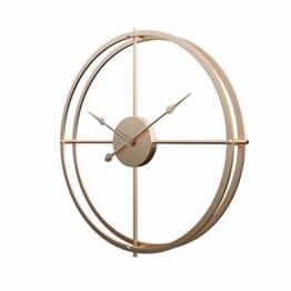 Touchmark Schlichte Wanduhr, Uhr Wand 40CM Retro Dekorative Geräuscharm Lautlos Wanduhr für Wohnzimmer, Gold - 1