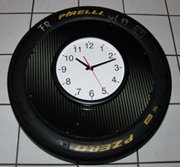 Wand-Uhr Racing (Megagroß) org. aus der DTM, Porsche Cup. Reifen/Slick, Motorsport Geschenk, - 1