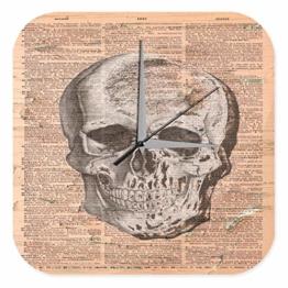 Wanduhr Anatomie Wissenschaft Totenkopf Arzt Medizin Deko - 1