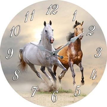 Wanduhr Pferde Duchmesser ca, 35 cm - 1