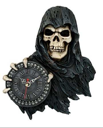 Wanduhr Sensenmann Hält Uhr Time Flies Uhr Reaper Gothic Tod - 1