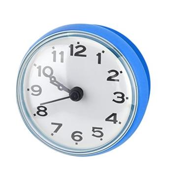 Wasserdichte Dusche Uhr mit Saugnapf Runden Arabischen Digitalen Zifferblatt für Bad Dusche Uhr Bad Küche Zubehör Banduhr Wandmontage(blau) - 2
