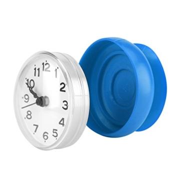 Wasserdichte Dusche Uhr mit Saugnapf Runden Arabischen Digitalen Zifferblatt für Bad Dusche Uhr Bad Küche Zubehör Banduhr Wandmontage(blau) - 4