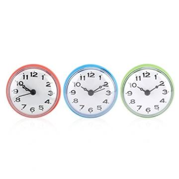 Wasserdichte Dusche Uhr mit Saugnapf Runden Arabischen Digitalen Zifferblatt für Bad Dusche Uhr Bad Küche Zubehör Banduhr Wandmontage(blau) - 8