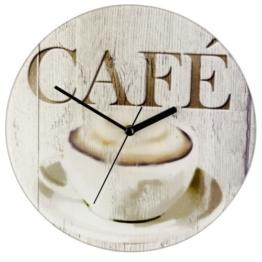 WENKO 25330100 Wanduhr Café, Gehärtetes Glas, 27 x 3 x 27 cm, Mehrfarbig - 1
