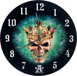 wunderschöne Wanduhr green Skull Prince of Oblivision by Alchemy - 1