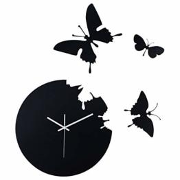 XIXIGZ Wanduhren Schmetterlings-DIY Wanduhr Kreative Moderne Minimalistische Atmosphäre Dekorative Uhren Wohnzimmer Kunst Mode Persönlichkeit Quarzuhr - 1