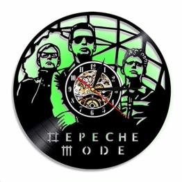 12-Zoll-Wachuhr, Vinyl Record Quarz Watch, Depeche Mode Acryl LED Nachtlicht Wohnraum Bedroom Wanddekoration - 1