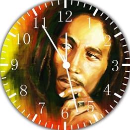 Bob Marley Wanduhr 25,4 cm Nice Geschenk und Raum Wand Decor E165 - 1