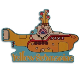 Close Up The Beatles Wanduhr Yellow Submarine, 35x24cm aus MDF bedruckt, batteriebetrieben - 1