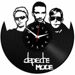 Depeche Mode Wanduhr Vinyl Schallplatte Retro-Uhr groß Uhren Style Raum Home Dekorationen Tolles Geschenk Wanduhr Depeche Mode - 1