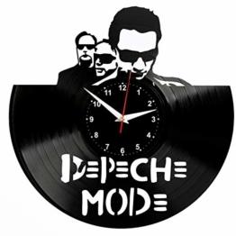 Depeche Mode Wanduhr Vinyl Schallplatte Retro-Uhr Handgefertigt Vintage-Geschenk Style Raum Home Dekorationen Tolles Geschenk Wanduhr Depeche Mode - 1