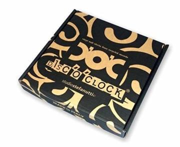 DISCOCLOCK - SEX, DRUGS & ROCK'N'ROLL - Wanduhr aus Vinyl Schallplattenuhr mit ROLLING STONES motiv- Upcycling Design Uhr Wand-Deko Vintage-Uhr Retro-Uhr MADE IN ITALY - Schnelle lieferung 24 st.! - 3