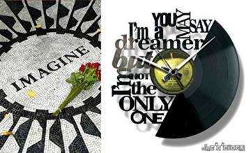 Disc'O'Clock Wanduhr aus Vinyl LP 33 Leise Imagine - Geschenkidee für Fan von John Lennon & Beatles - 2