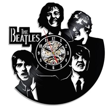 Einzigartige The Beatles Wanduhr hergestellt mit Vinyl Record - 1